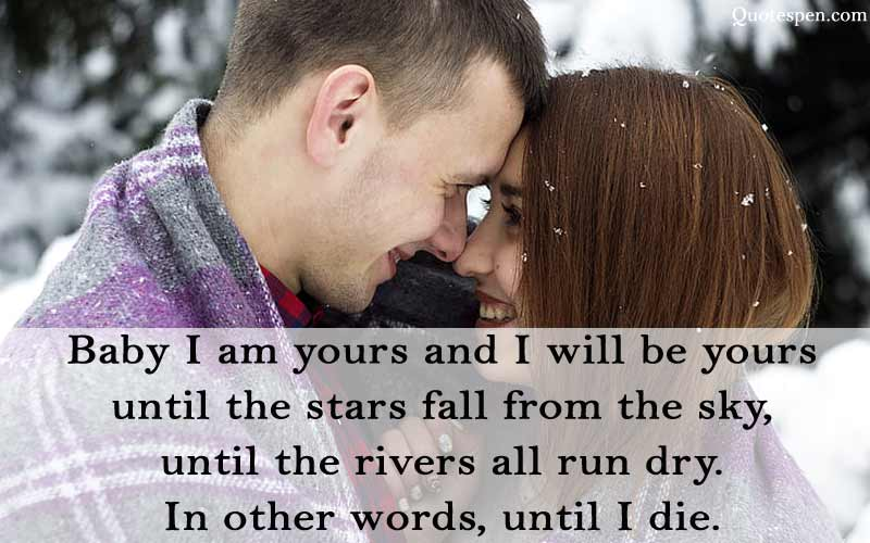 baby-I-am-yours-husband-love-quote