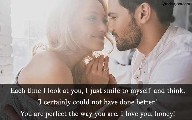 each time I look at you - love quote for husband