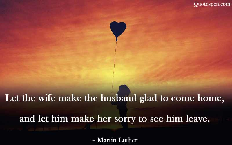 let the wife make the husband glad