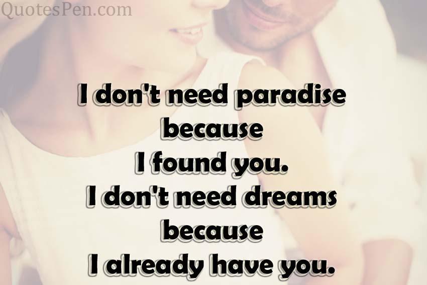 I already have you