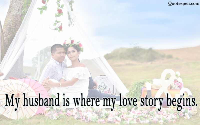 my husband is where my love