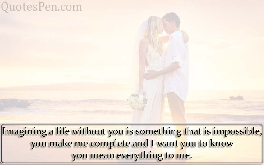 you mean everything for me
