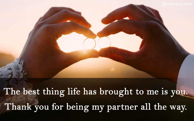 thank you for being my partner