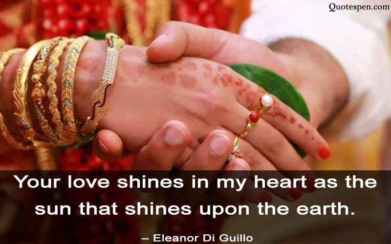your love shines in my heart