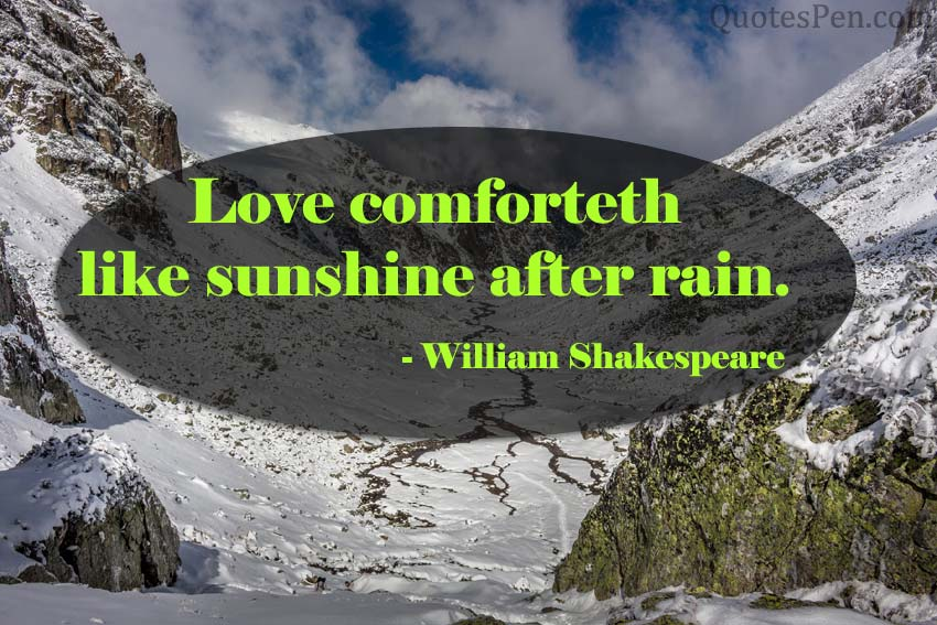 love-comforteth