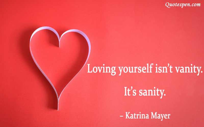 loving yourself is not vanity