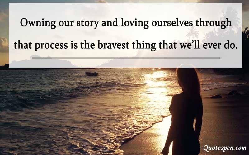 loving ourselves - self love caption
