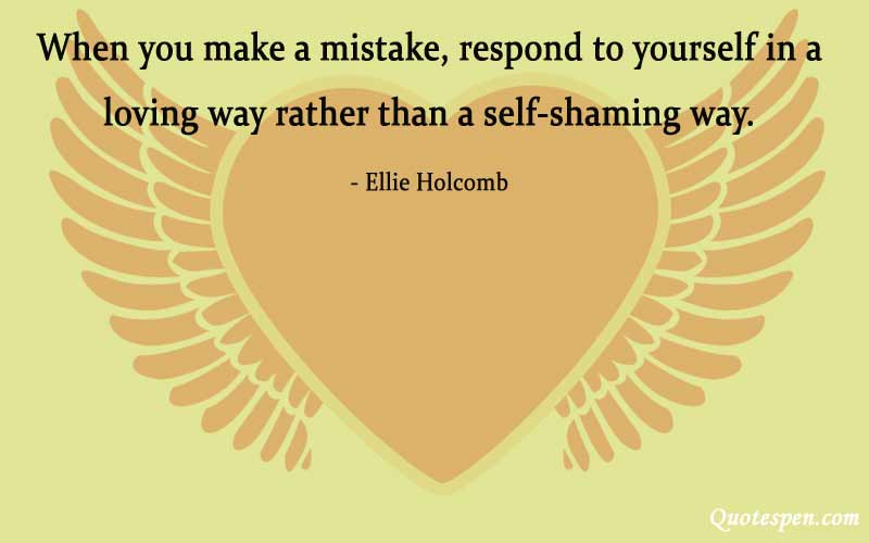 respond to yourself in a loving way