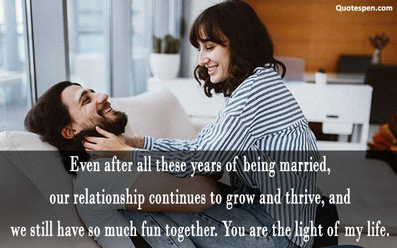 you are the light of my life - dear wife