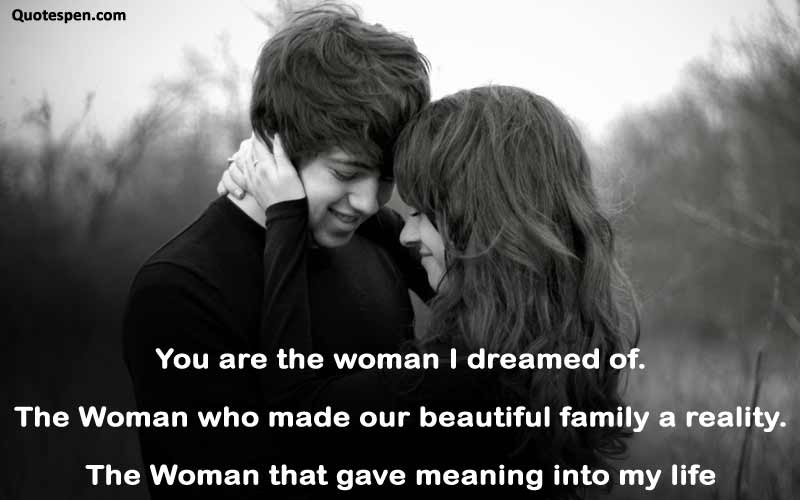 you are the woman-quote on love