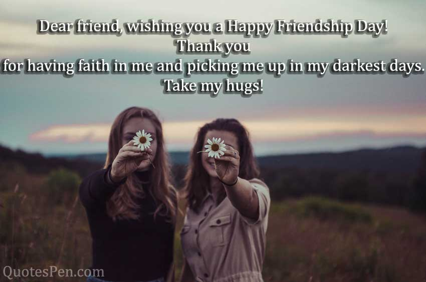 happy friendship day quote english