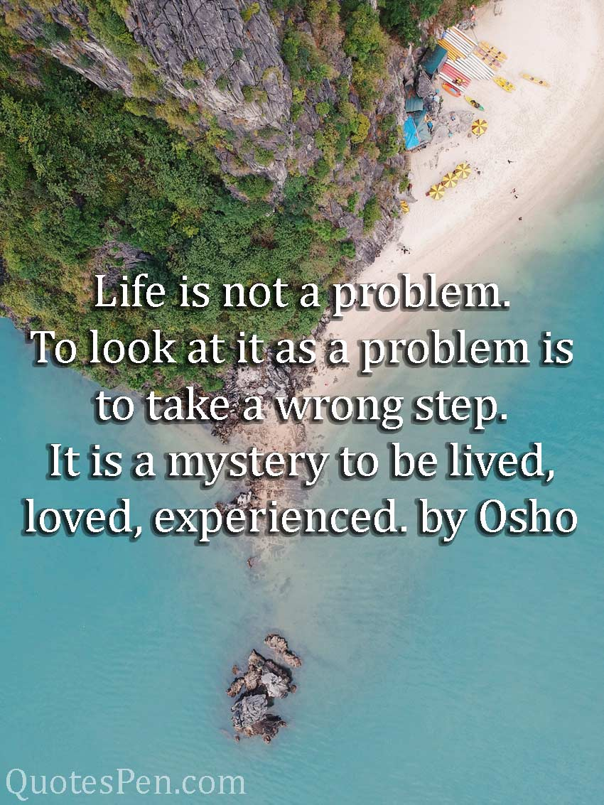 life-is-not-a-problem-quote