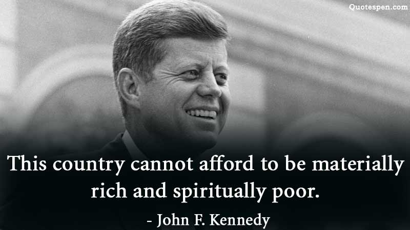 john f kennedy quote on country
