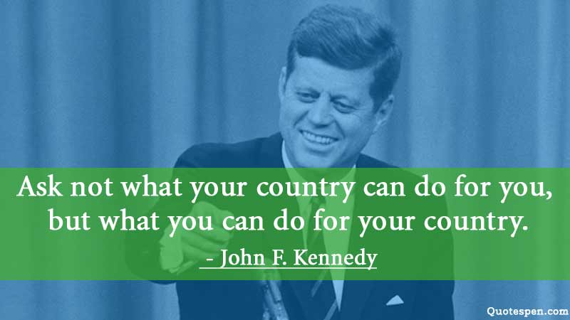 inspirational john f kennedy country quote