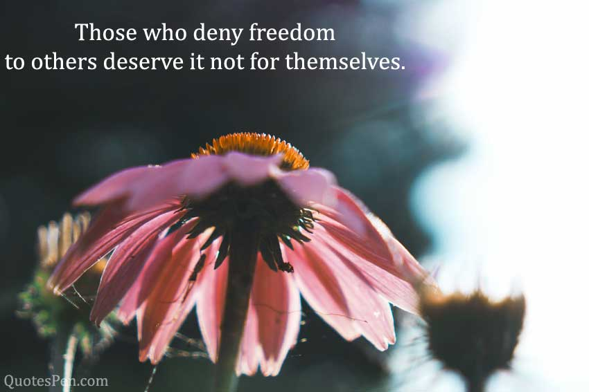 those-who-deny-freedom-Abraham Lincoln Quotes