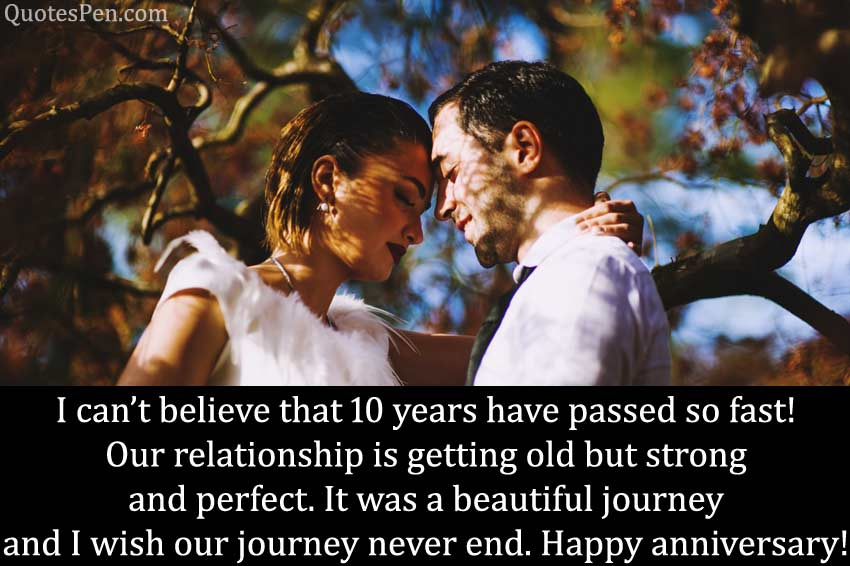 10th happy wedding anniversary quotes