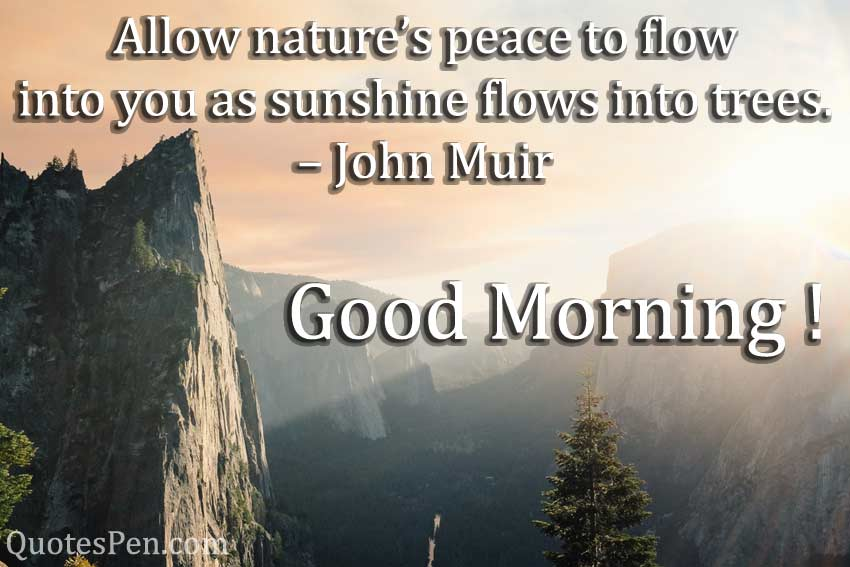 allow-nature-peace-Good Morning Nature Quotes