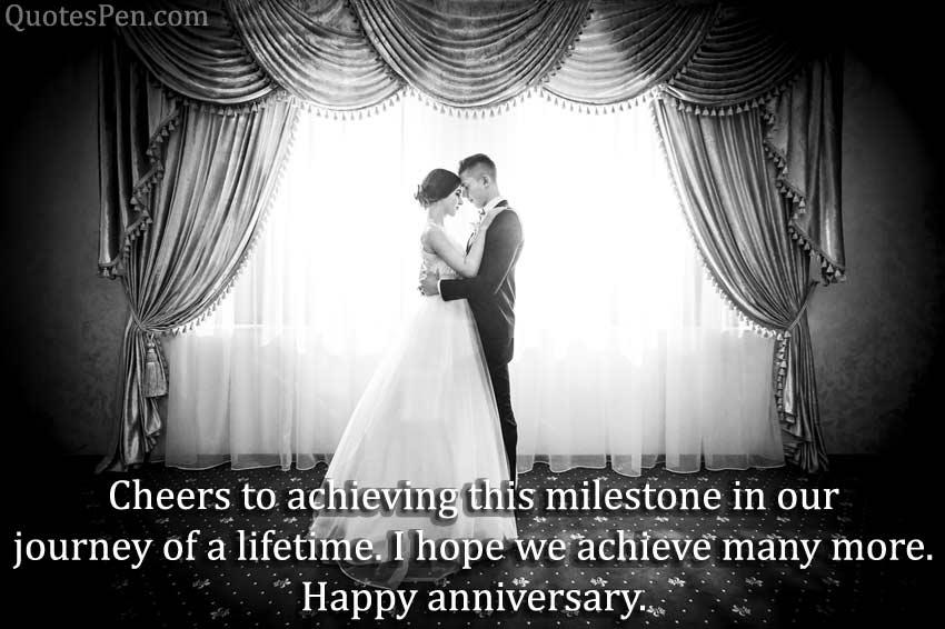 cheers to achieving milestone