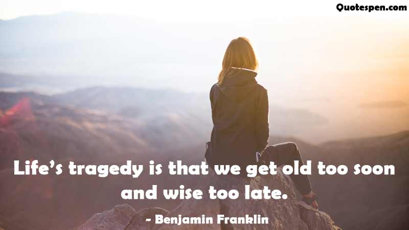 Life tragedy quote