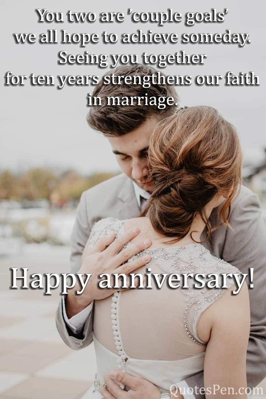 10th wedding anniversary quote