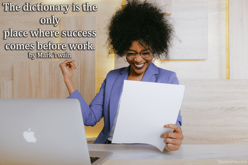dictionary-success-quote for student
