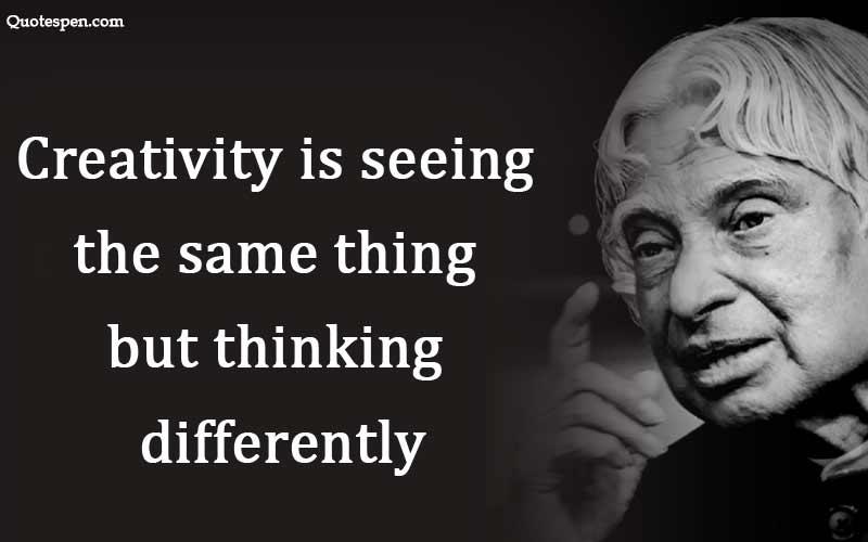 Creativity is seeing