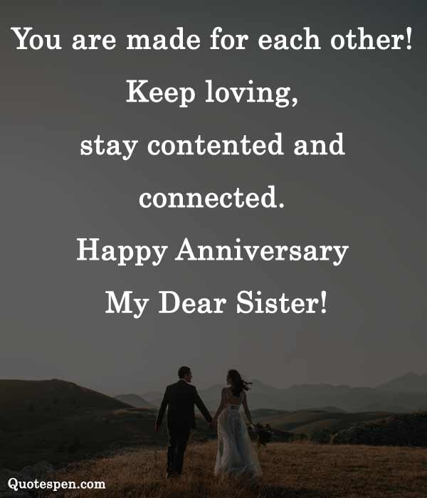 10th wedding anniversary wishes for sister