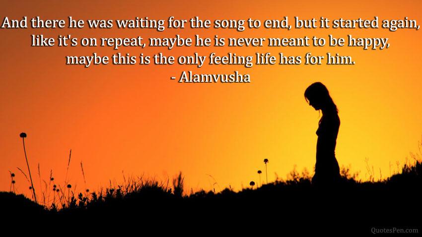 heartbroken depressed quote