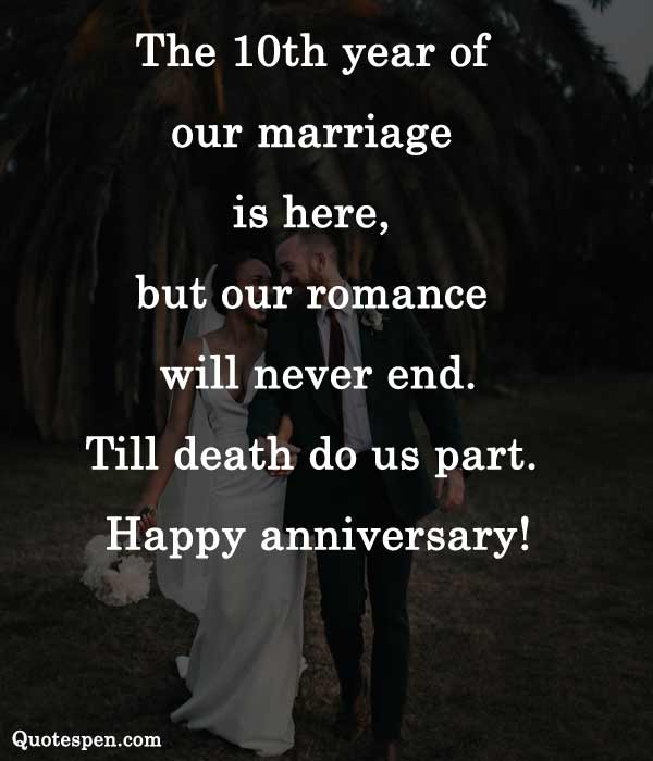 Wedding 10th anniversary quotes for husband
