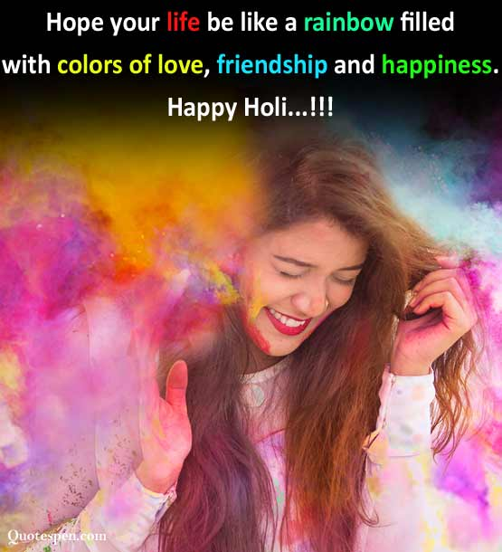 happy holi wishes quote image in english
