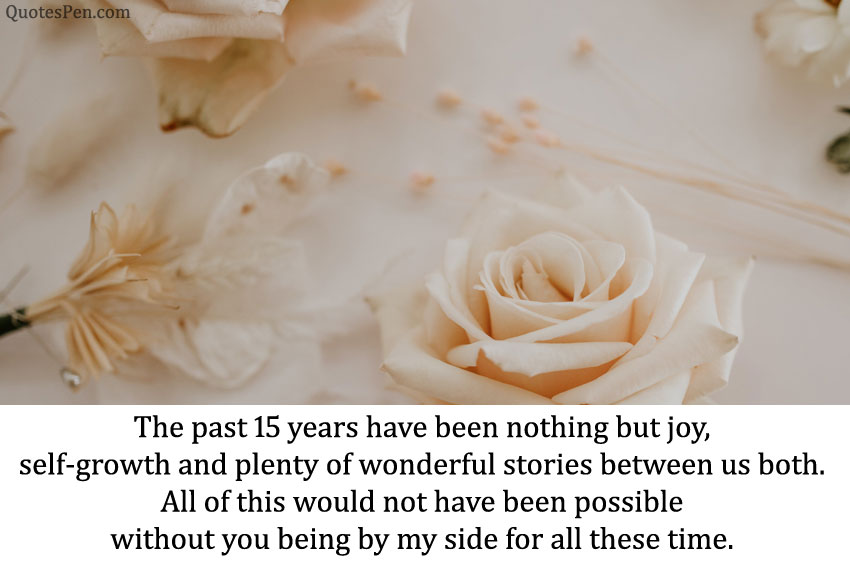 15 years anniversary quotes