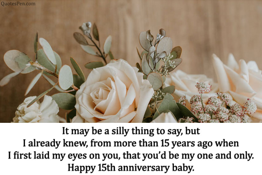 15th wedding anniversary quotes