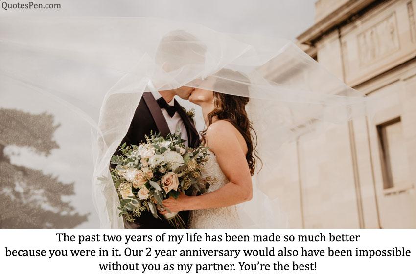 2nd anniversary wishes my life