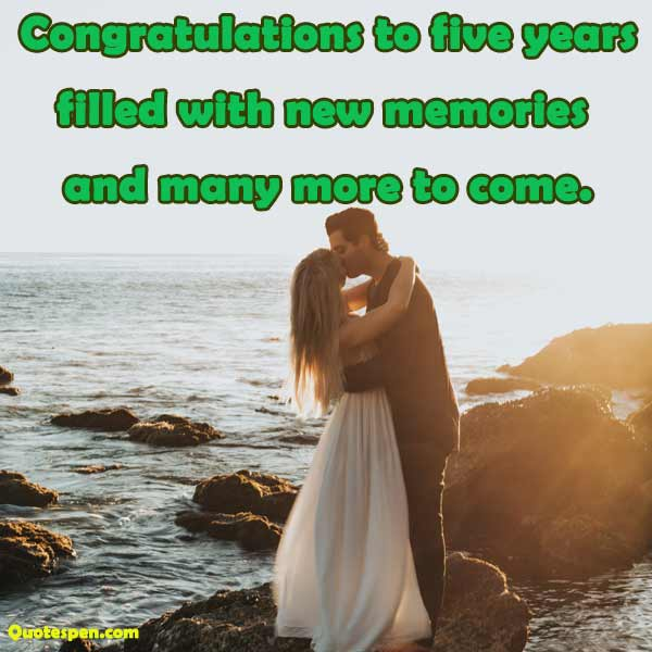 5 year marriage anniversary quotes for her