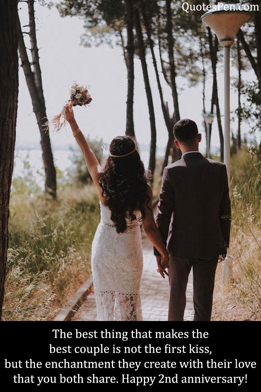 2nd wedding anniversary wishes image