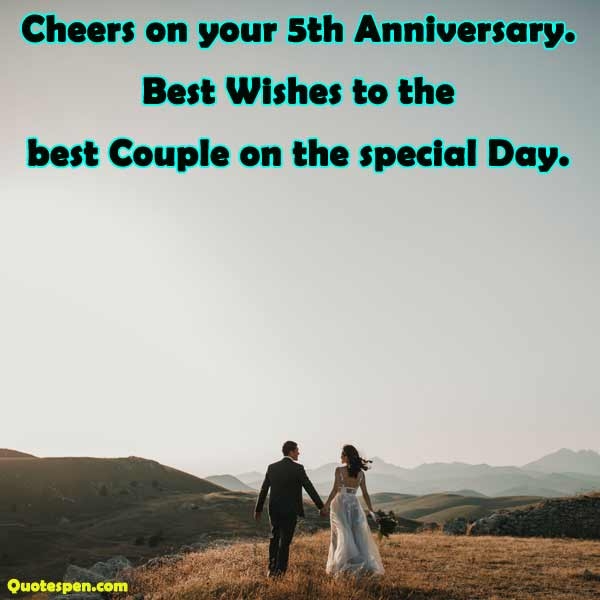 cheers on your 5th anniversary