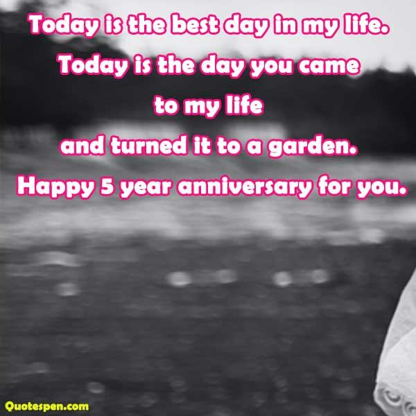 5 year anniversary for you