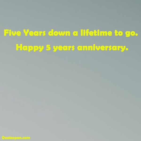 happy 5 years anniversary