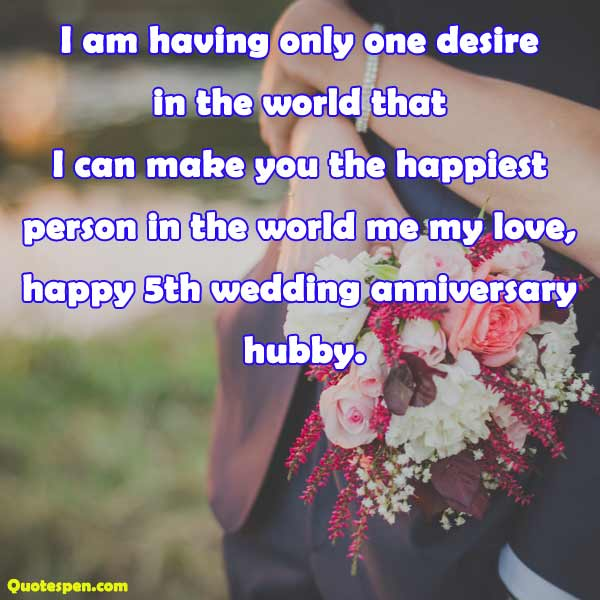 happy 5th wedding anniversary dear hubby
