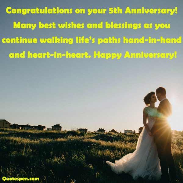 happy 5th wedding anniversary quotes