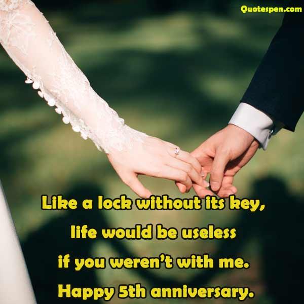 happy 5th wedding anniversary wishes