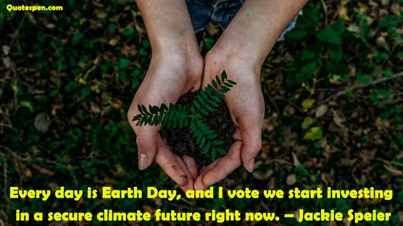 jackie speier earth day quote