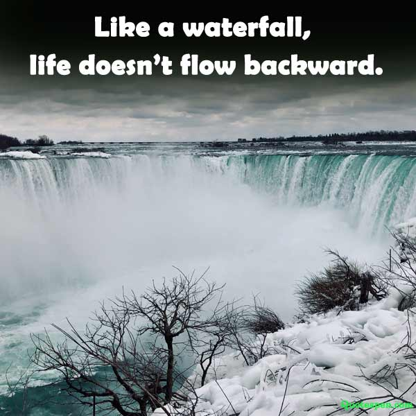 waterfall quote one liner