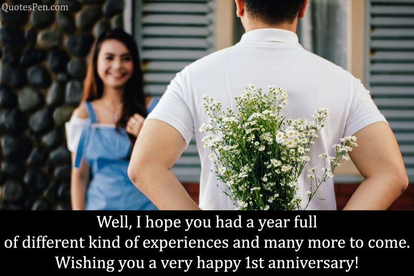happy 1st year anniversary wishes quotes