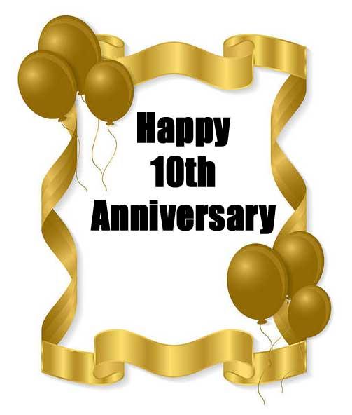 10th anniversary wishes