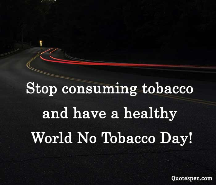 anti tobacco day messages