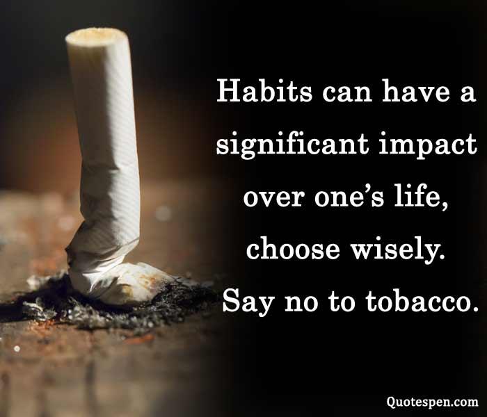 say no to tobacco - world tobacco day