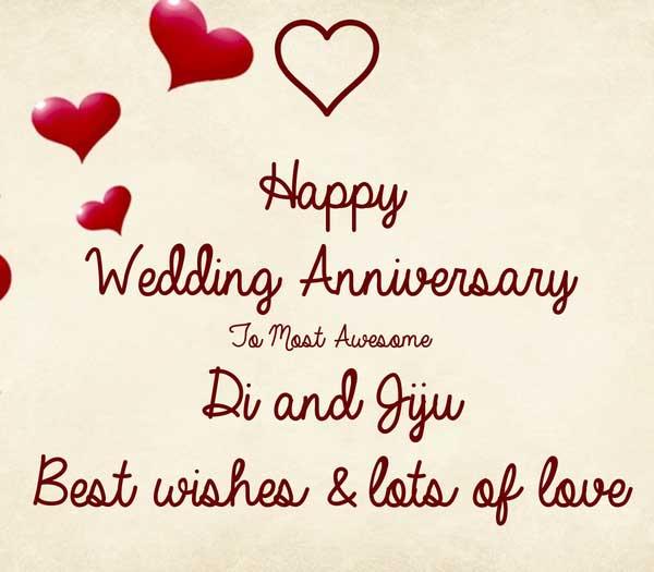 Happy Anniversary didi and jiju images