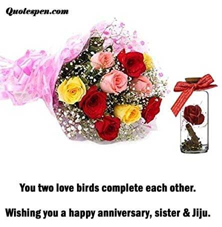Happy wedding anniversary wishes di and jiju