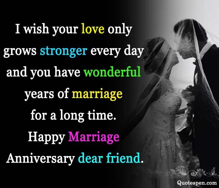 happy marriage anniversary dear friend